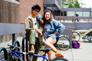 Pham and Pollack will bike from Connecticut to California this summer as part of the Bike & Build program. They've begun training for the 80-day journey, during which they'll also build houses in low-income areas. Photo By: Emily Lavieri-Scull