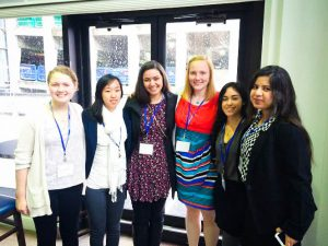 Over spring break, ProHealth (some members pictured above) and VHP attended the Global Health and Innovation Conference, learning how to rethink their approaches to health and volunteer work. Photo By: ProHealth