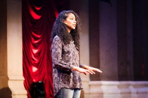 Safia Elhillo, a spoken word poet and member of the four-poet group, Divine Fabrics Collective. She will be performing at Vassar with her loss- and imagination-filled writing and spoken word. Photo By: Safia Elhillo