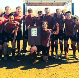 The men's rugby team showed guts and teamwork en route to winning the Tri-State Conference 7's tournament this past Sunday, going 6-0 on the day. The men now look to travel to Denver, Colorado for the National Tournament in late May. Photo By: Vassar Athletics