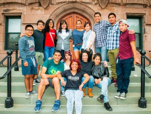 On April 19, alumnae/i panelists Alexis Rivera '07, Joel Arce '08 and Angelica Gutierrez '13 related their experiences as Latino/a graduates pursuing higher educational opportunities to current students. Photo By: Vassar Admissions