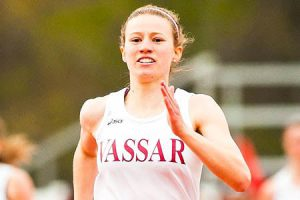 Senior Heather Ingraham continued her dominance at the Alan Connie Shamrock Invitational at Costal Carolina University. Ingraham ran the fasted 400 meter in the nation, dazzling the crowd. Photo By: Vassar Athletics
