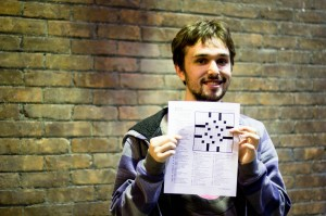 Tyler Fultz '15 will be teaching a student seminar this semester that seeks to uncover the hidden joys of crossword puzzles. Other student seminars include courses about cooking, art and dance. Photo By: Sam Pianello