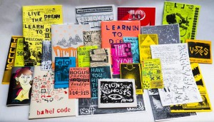 The Collaboratory vehicle now houses the Research Library's new zine workshops which seek to teach community members about these literary works and to further grow the College's collection. Photo By: SAVP