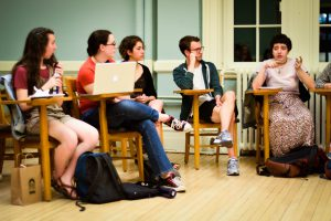 Fem Alliance and ACCESS hosted a talkback following the lecture by Peter Singer. Many who attended both events found the constructive dialogues to be helpful in understanding Singer's point of view. Photo By: Sam Pianello