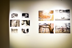 """""""The Interminable Pleasure of the Gaze,"""" a new exhibition in the Palmer Gallery, features photographs from students in different art and photography classes, was organized by Art Professor Judy Linn. Photo By: Sam Pianello"""