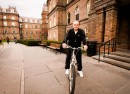 Roman Czula enjoys the Spring weather on his bike. The Vassar community will be waving goodbye to Czula at the end of this semester. He has been an integral part of Vassar life for more than 30 years. Photo By: Vassar College
