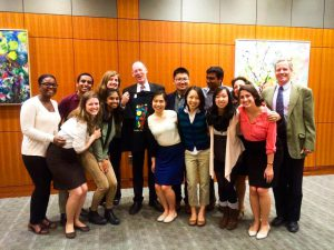 VHP traveled to a conference at Harvard Medical School last Tuesday where they were finally able to meet in person and speak in depth with their long-time mentor and role model, Dr. Paul Farmer. Photo By: Vassar Haiti Project