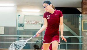 It was a rough weekend for senior Stephanie Zhu and the women's squash team. They fell against Tufts 2-7 this past weekend. They didn't fare better against Wesleyan, losing 9-0 against the Cardinals. Photo courtesy of Vassar Athletics