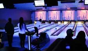 Bowlers at the newly remodeled Spins Bowls in Arlington. The rennovations are bringing new energy to the bowling alley, once known as Hoebowl, a favorite of previous Vassar generations. Photo courtesy of dutchesstourism.com