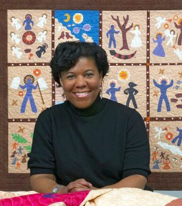 Celebrated quilter and historian Kyra Hicks will visit VC to deliver a lecture and workshop. Her work explores the craft of quiltmaking itself as well as its significance in African-American history. Photo courtesy of Vassar College