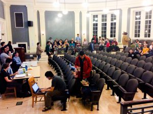 On Sunday, Feb. 28 the VSA heard arguments both for and against the SJP and JVP resolutions and the counter-resolution proposed by J Street U. Photo by Jeremy Middleman