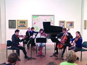 Chamber Music students will deliver a series of concerts in the Bridge Building throughout the month of April. The series is a celebration of the new building and the hard work of these artists. Photo courtesy of Eduardo Navega