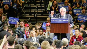 Bernie Sanders spoke in Poughkeepsie to rally New York State voters to participate in the primary on Tuesday, April 19. Sanders was the first of the presidential candidates to visit Poughkeepsie. Photo courtesy of The Poughkeepsie Journal