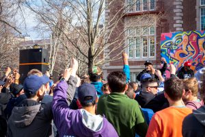Throwback Jam offers opportunities for hip hop fans of any age to appreciate the sounds of both student groups and professionals on campus. The community aspect is the most important part of the event.  Photo courtesy of Joseph Weiman