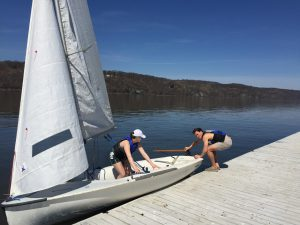 The sailing club is ready to set sail again after a short period of inactivity. 70 students passed the swimming test and nearly twice as many are on the list as they look to get their feet wet. Photo courtesy of Vassar Athletics