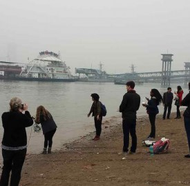 Over the past spring break, students and faculty visited China to study the environmental consequences of the country's rapid industrial development and explore potential solutions. Photo courtesy of the Vassar College Office of Communications