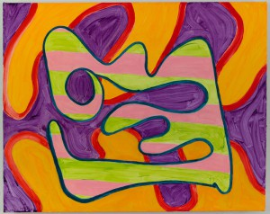 """""""Fill"""" by Brooke Moyse, shown in the Palmer exhibit, demonstrates a more emotional and organic side of abstract painting, one that shows both the artist's touch and a universal appeal. Courtesy of Brooke Moyse"""