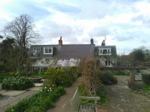 Virginia Woolf's house from the perspective of the traditional English cottage garden. The garden itself was mostly Leonard Woolf's passion project and was known to host writers like T. S. Eliot. By Elizabeth Dean/The Miscellany News