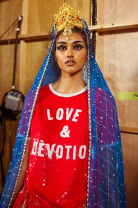 """Designer Ashish Gupta presented """"Bollywood Bloodbath,"""" a collection inspired by Hindu deities at London Fashion Week. Other designers explored similar themes of cultural identity. Courtesy of Cleo Glover/Wonderland Magazine"""