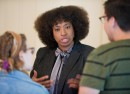 Social activist Yavilah McCoy gave a lecture on Sept. 7 and led workshops on Sept. 8 and 9 dealing with intersectional identities. Courtesy of Vassar College/Karl Rabe