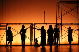 """""""Machinal,"""" a Drama Department senior project directed by Olivia Zerphy '17, reanimates a largely forgotten play by playwright Sophie Treadwell. Courtesy of Kevin Johnson"""