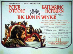 """The upcoming performance of """"The Lion in Winter,"""" a royal Christmas drama directed by Zeke Maben '17, is inspired by the movie version starring Katharine Hepburn and Peter O'Toole. Courtesy of Avco Embassy Pictures via Wikimedia"""