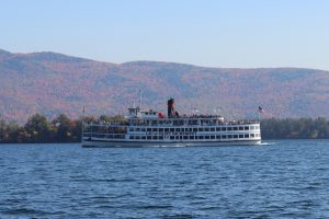 The Lac du Saint Sacrement gives tourists and locals a lakeside look at Lake George's idyllic waterfront views. Dea appreciates the serenity of the islets and distant mountains this time of year. Photo courtesy of Dea Vazquez