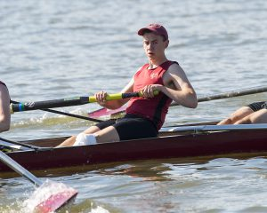 Sophomore Daniel Otto, shown above, competes in a rowing event last season. He and his fellow Brewer teammates will start fall competition at the Head of the Housatonic race this weekend. Courtesy of Carlisle Stockton