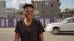 """""""Conceptual entrepreneur"""" Martine Syms gave a talk about her process and work on Tuesday. In her work, Syms combines ideas about both the Internet and race and how they interact. Photo courtesy of Tobias Rodriguez-Wynwood via Vimeo"""