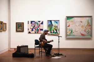 Vincent Dupas, who performs under the stage name My Name is Nobody, visited Vassar's Late Night at the Loeb this past Thursday to play music with both American and French influences. Photo courtesy of Joey Weiman