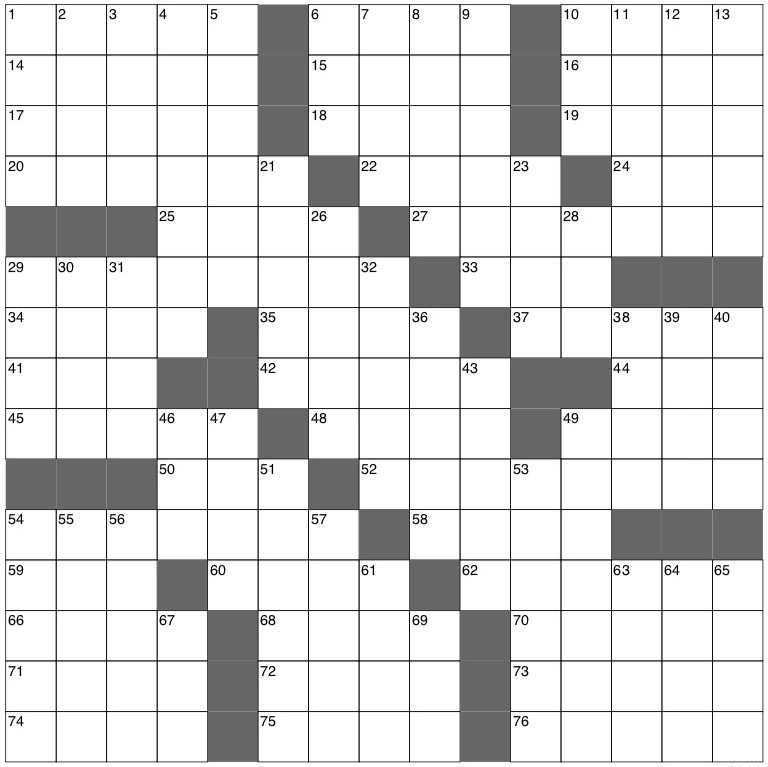 The Miscellany Crossword: Sept. 19 - The Miscellany News