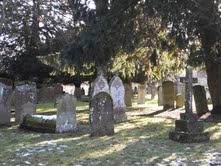 Gravestones outside of Holy Trinity Church.