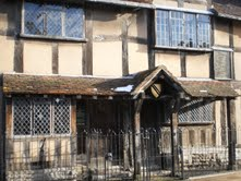 Shakespeare's birthplace and childhood home.