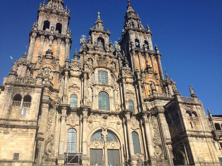 This is the Catedral de Santiago de Compostela. We passed by it every day, but I am still in awe of its beauty.