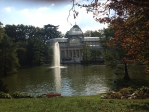 The Crystal Palace in the Retiro--this building and the entire park once belonged to the Spanish royal family.