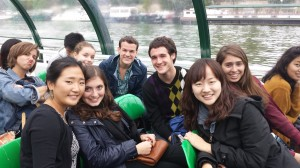 One of our first activities in Paris was taking a bateau-mouche on the Seine.
