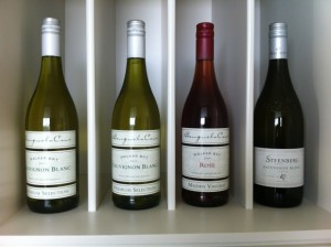 Local wine from the Benguela Cove vineyard
