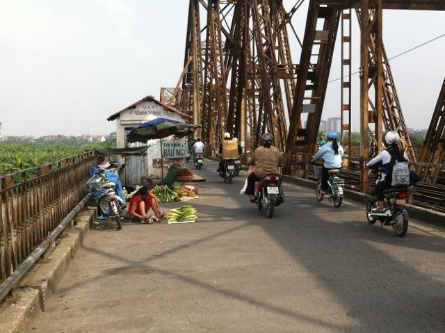 Biking around the city.