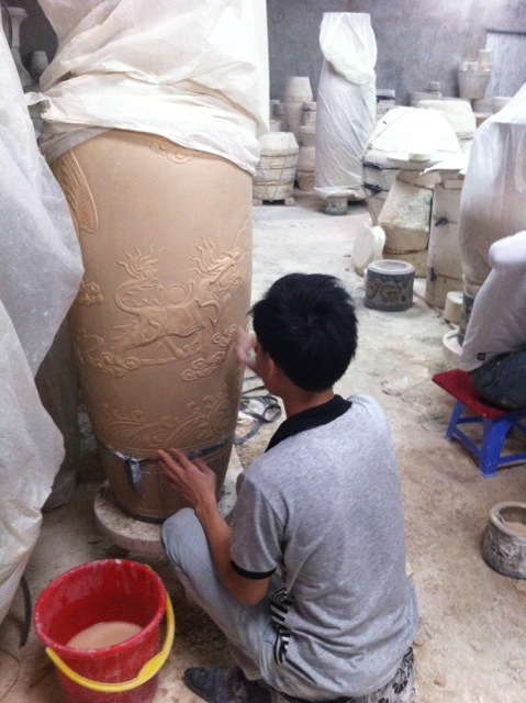 Visit to a pottery village.