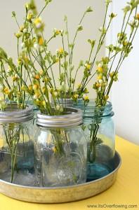 Vintage-Mason-Jar-Flower-Vases