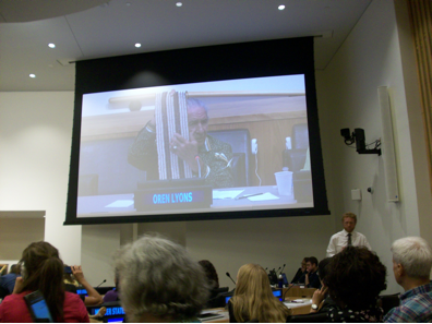 Onondaga Chief Oren Lyons presents the history of the Two Row Treaty at the United Nations.