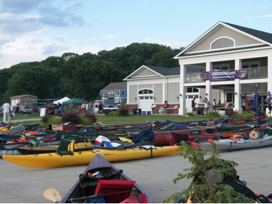 Two Row campsite at the Hudson River Rowing Association in Poughkeepsie – evening of August 3rd.